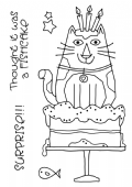 Woodware - Birthday Cat - Clear Magic Stamp Set - FRS680